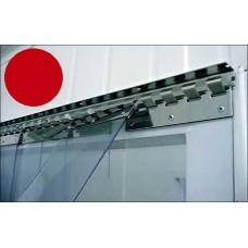 "PVC strips - 200x2mm (8″x0.08"") opaque  PVC strips orange - price per meter"