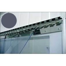 "PVC strips - 200x2mm (8″x0.08"") opaque  PVC strips grey - price per meter"
