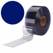 "PVC strips - 200x2mm (8″x0.08"") opaque  PVC strips blue - rolls"