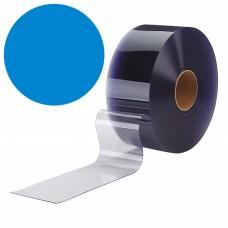 "PVC strips - 200x2mm (8″x0.08"") clear PVC strips blue - rolls"