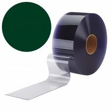"PVC strips - 200x2mm (8″x0.08"") clear PVC strips dark green - rolls"