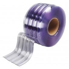 "PVC strips - 200x2mm (8″x0.08"") clear PVC strips polar grade ribbed - rolls"