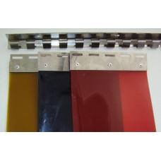 "Welding PVC strip curtain - 300x2mm (12"" x 0.08"") bronze strips - overlap one hook"
