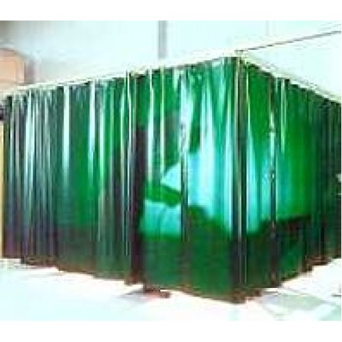 PVC Welding Curtain//Strip 200x2x50mtr Green//Bronze//Red
