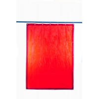 Welding curtain - PEVECA Red